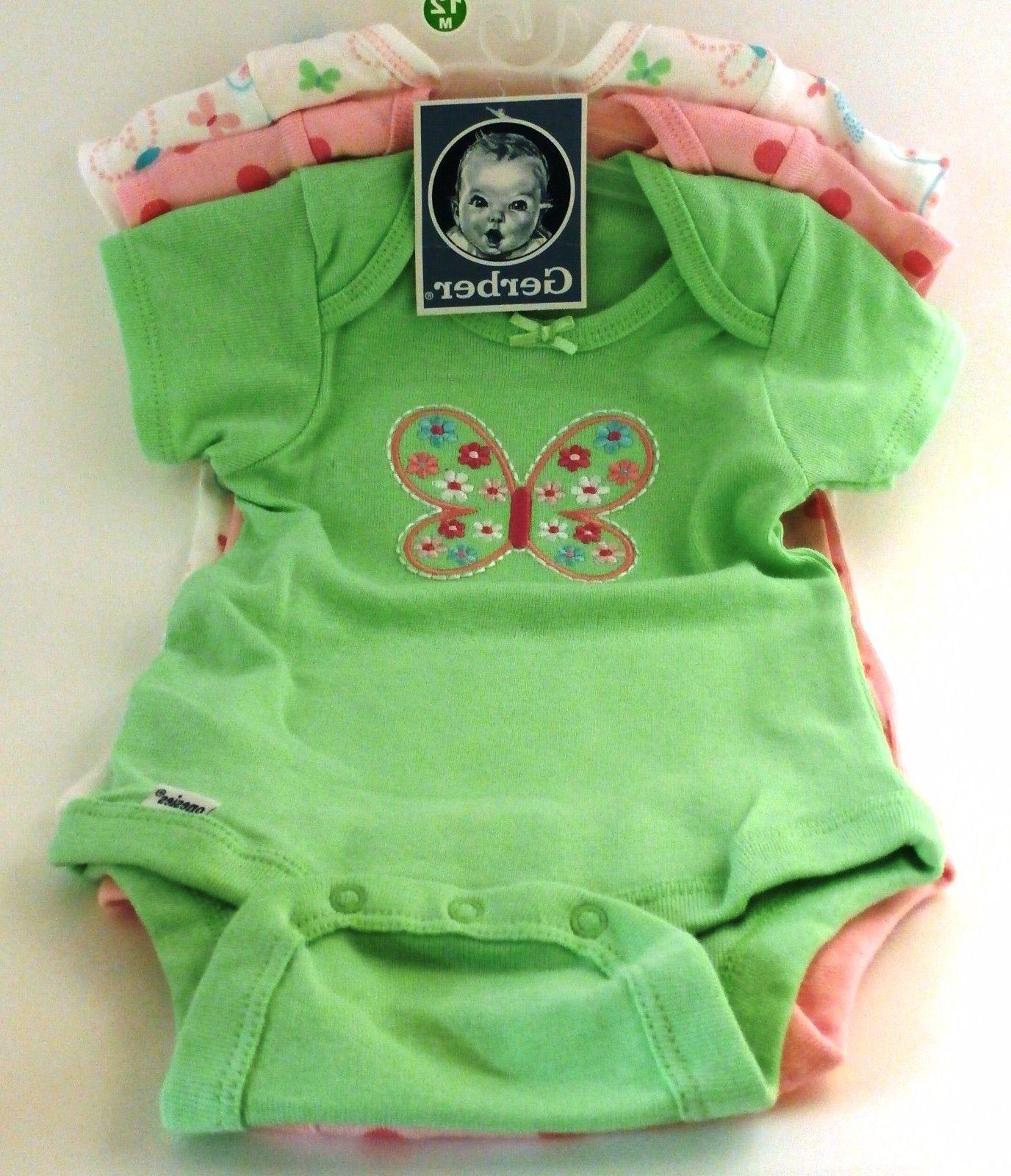 Gerber Baby Girls Butterfly Onesies Size BABY SHOWER GIFT