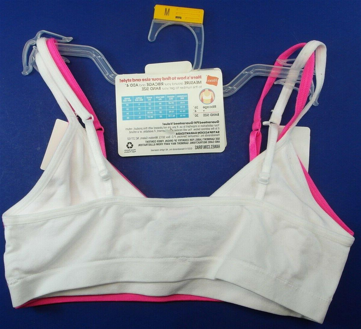 Hanes Cami Strap Wirefree Pink M