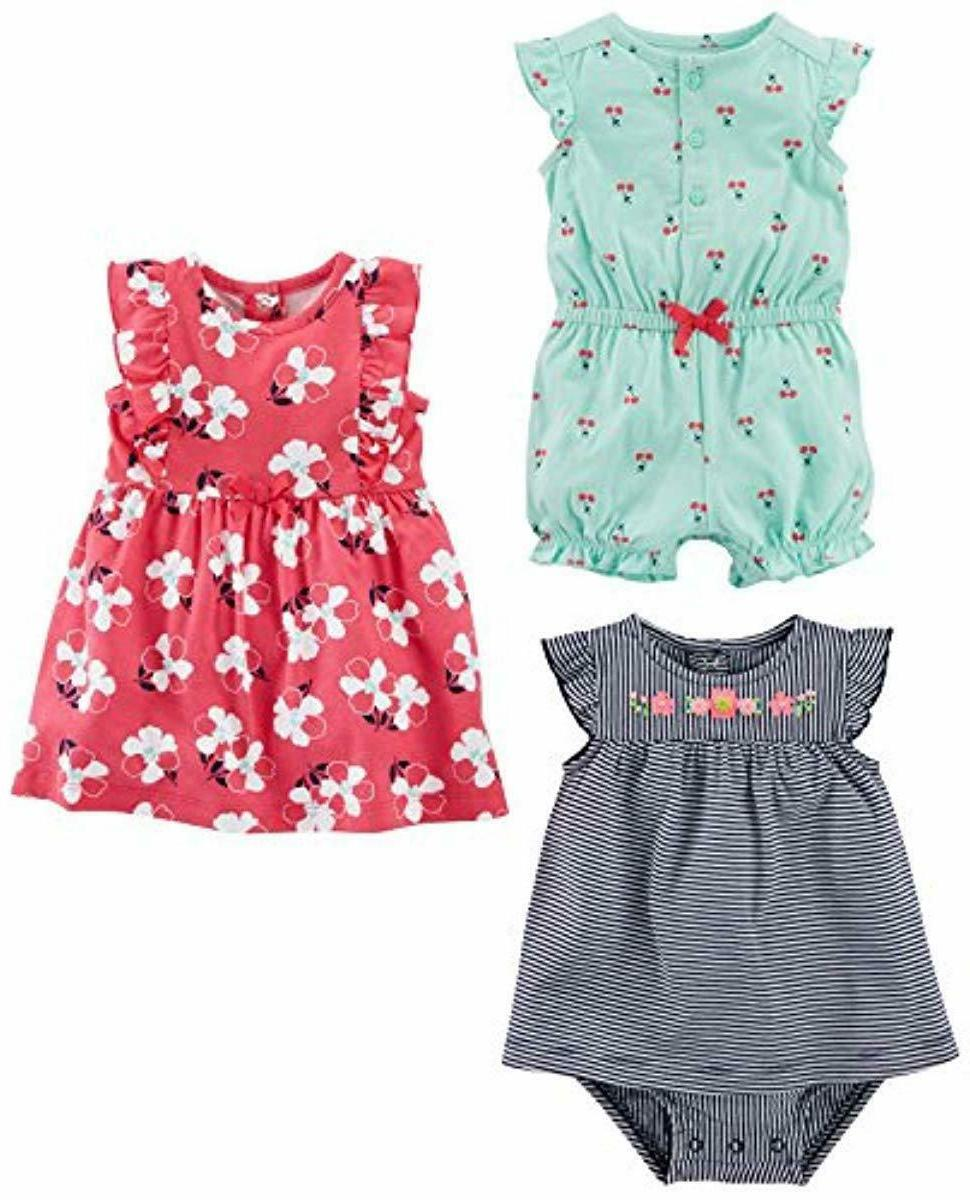 carter s baby 3 pack romper sunsuit