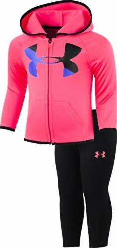 Under Armour Childrens Apparel Baby Girls Big Logo Hoody Set