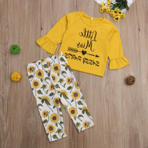 Cute Kids Girls Pants Outfit US
