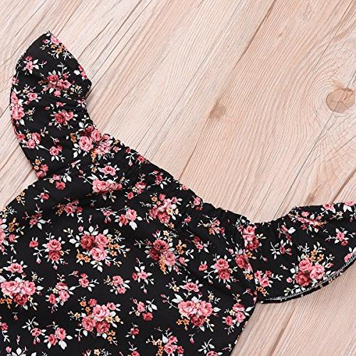 Do Baby Girls Flower Sleeve Off Romper Kid Jumpsuits )