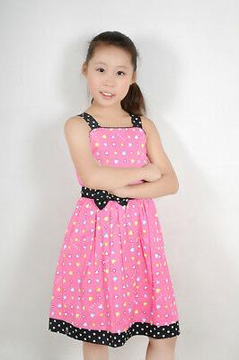 Sunny Fashion Pink Heart Child Clothes Size