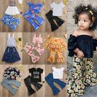 Flared Pants Outfits Kid Baby Girl Top Vest Mini Dress+Loos