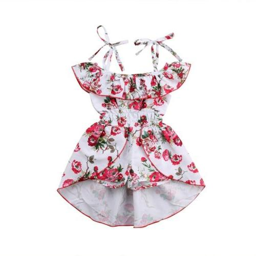 Floral Toddler Kids Baby Girl Jumpsuit