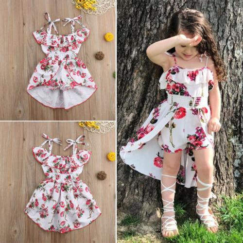 Floral Girl Clothes Bodysuit Jumpsuit