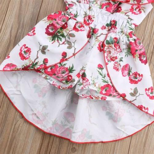 Floral Toddler Baby Girl Clothes Romper Bodysuit Jumpsuit Outfits