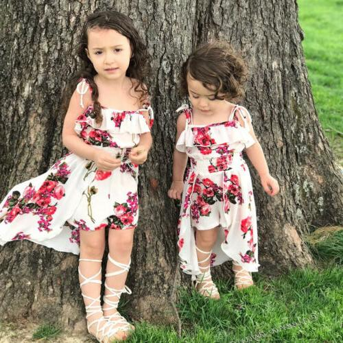 floral toddler kids baby girl clothes romper