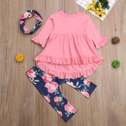 Floral Toddler Kids Baby Girl Cotton Pants Leggings Outfits US