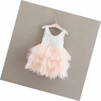 2Bunnies Girl Beaded Backless Peony Lace Back ... Free Shipping