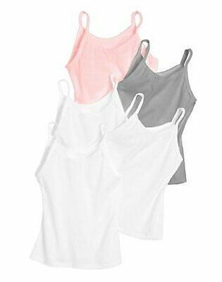 Hanes Girl Cami 5-Pack Tank Tops Tag Free Assorted Colors Un