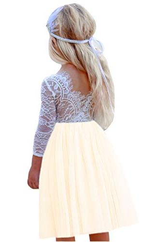 girl rose lace back a line straight