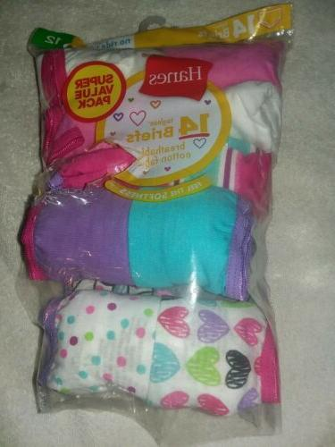 girls 10 pack tagless briefs size 10