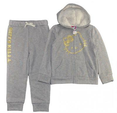 girls 2 piece gray and gold hoodie