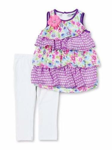 girls 6x lavender tiered tunic and leggings