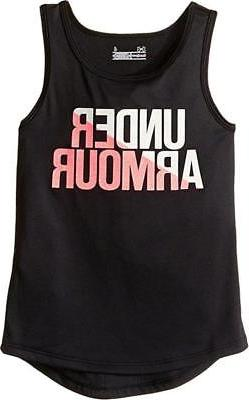 Under Armour Girls Black Dry Fit Tank Top Size 2T 4 6