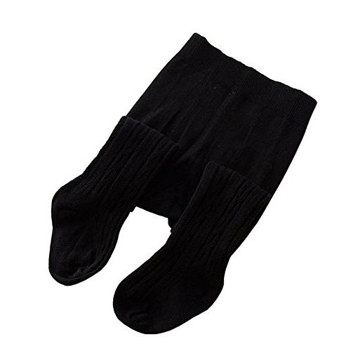 girls cable knit cotton tights leggings stocking