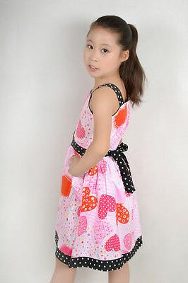 Sunny Dress Pink Print Child Clothes Size