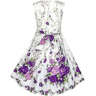 Sunny Fashion Girls Purple Butterfly Flower