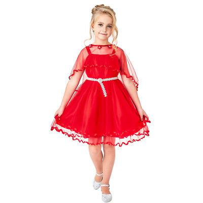 Sunny Fashion Red Wedding Size Pageant