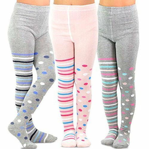girls fashion tights 3 pair pack multi