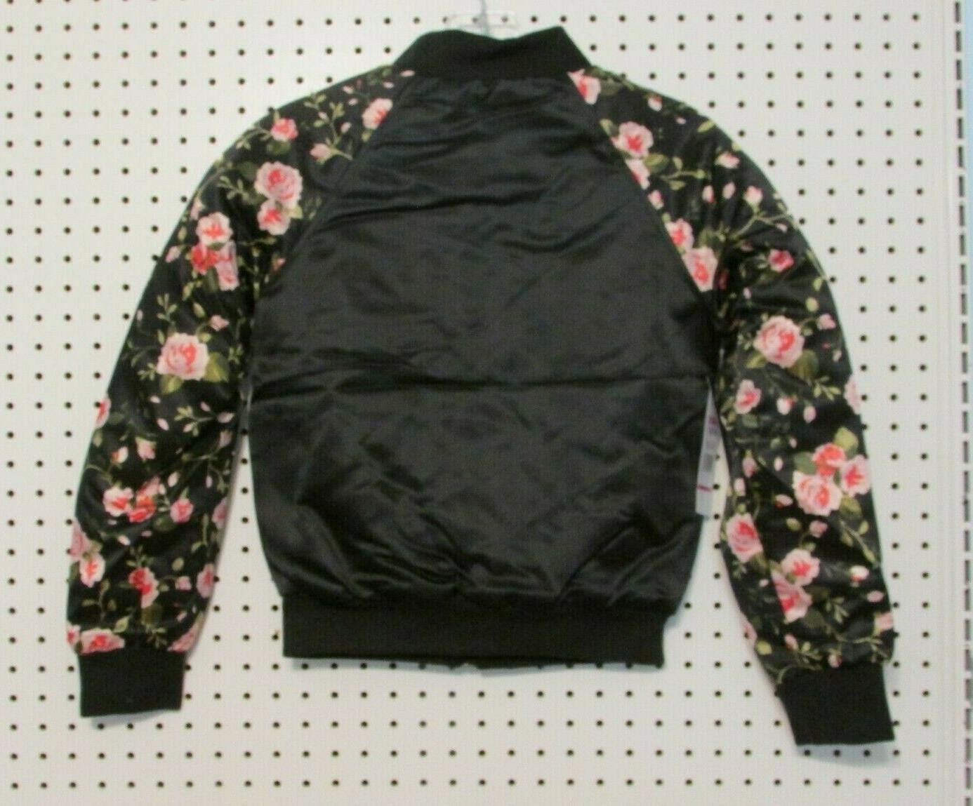 Limited Too Girls' Printed Sleeve Satin Jacket - 10-12