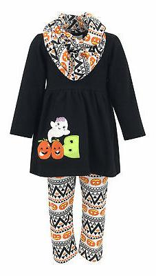 Girls Halloween Legging Set Infinity Scarf Boutique Toddler