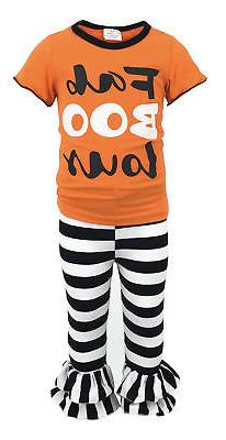 Girls Halloween Outfit Boutique Toddler Kids Clothes Top Pan
