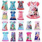 Girls Kids Nightie Nightdress Disney Cartoon Character Pyjam