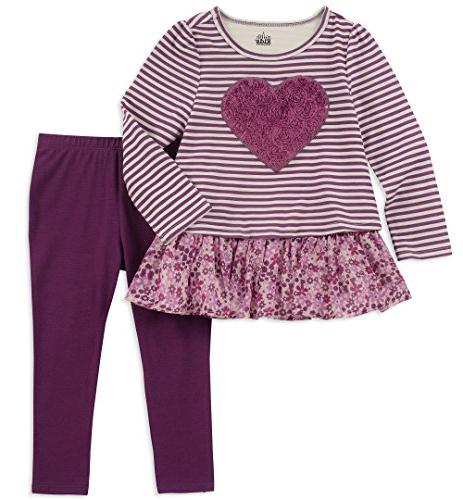 girls little 2 pieces legging set grapejuice
