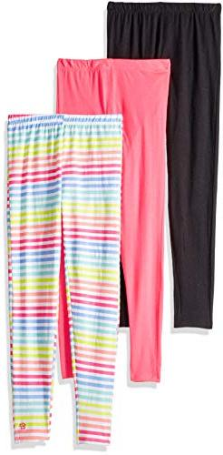 Limited Too Girls' Little 3 Pack Knit Leggings, Rainbow Mult