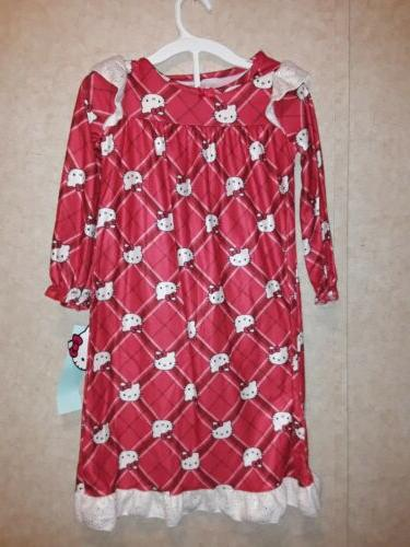 Hello Kitty Girls Nightgown Size 4/5