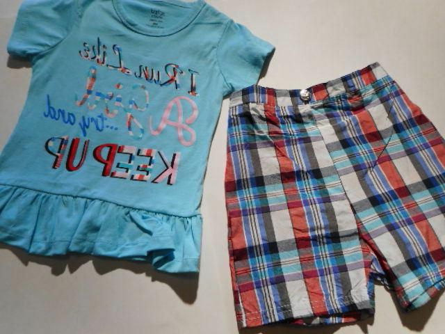 Girls Shorts Shirts Tops Try to keep 2