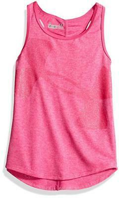 Under Armour Girls Rebel Pink Dry Fit Tank Top Size 2T 3T 4T