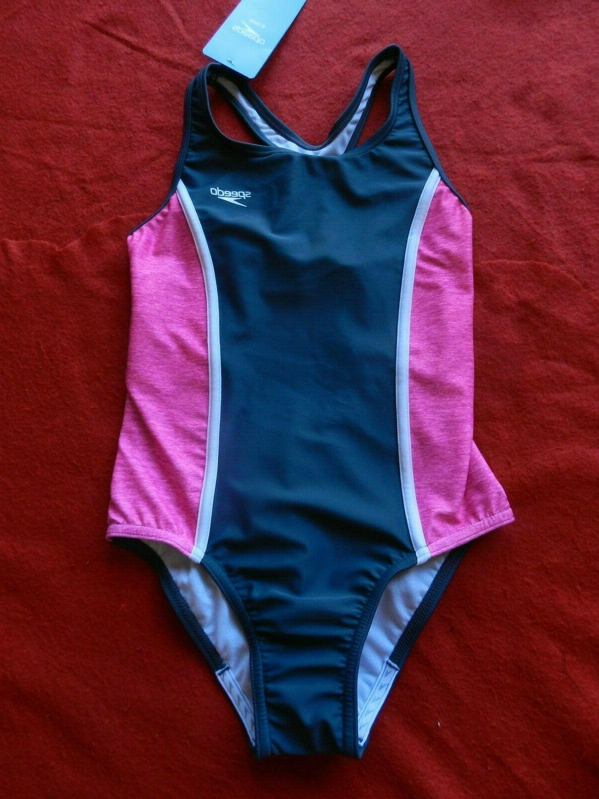 Speedo Girls' One Piece Grey New With Tag!!
