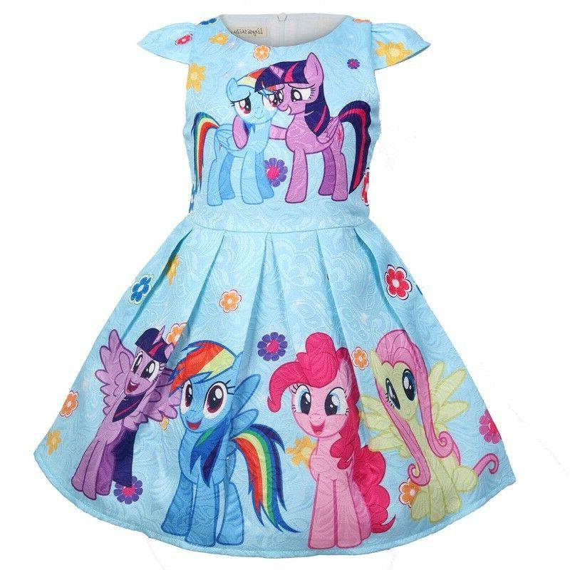Girls Skater Dress My Little Pony Casual Party L7