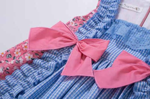 Girls Spanish Style Princess Dresses Check Clothes