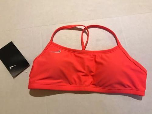 Nike Girls Sports Bra Bathing Suit Top With Cups Size Small