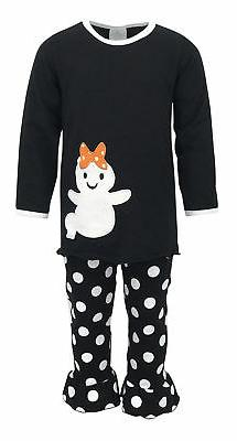 Girls Top Pant Ghost Shirt Halloween Outfit Boutique Toddler