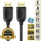 HDMI 1.4 4K 3D HDTV PC Xbox ONE PS4 High Speed Cable Plug 3