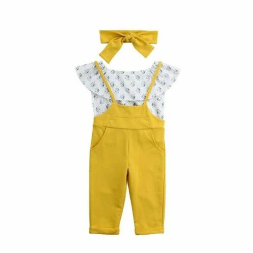 Kids Baby Clothes Off T-shirt Overalls