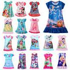 Kids Baby Girls Nightdress Disney Princess Pajamas Nightwear