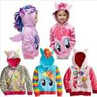 Kids Girls Hoodie My Little Pony Wings Jacket Sweater Coat Z