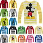 Kids Toddler Boys Girls Cartoon Long Sleeve T-Shirt Blouse T