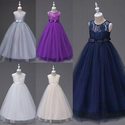 Lace Dress Maxi Ball Gown For Teens Wedding Bridesmaid