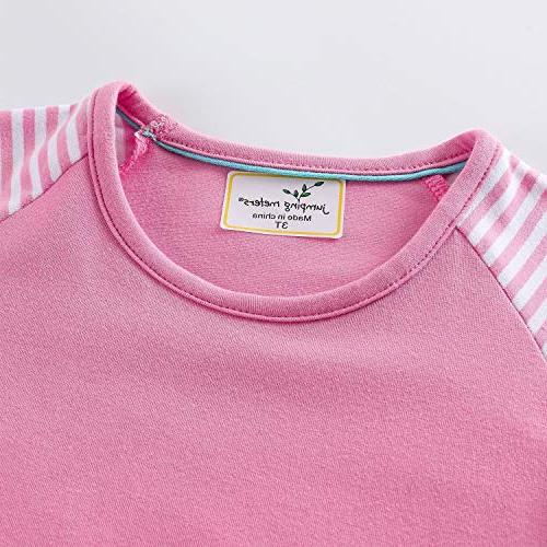 Popshion Girls Pink Long Sleeve Casual Cartoon Special Occasion Years