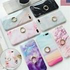 Marble Ring Holder Stand Phone Case For iPhone X 7 6s 8 Plus