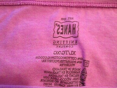 New 2 Hanes Cotton Panties Size XL Pink & Lavender