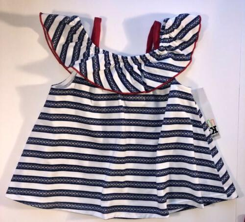 KIDS Red, And Blue Short 6 Sleeveless