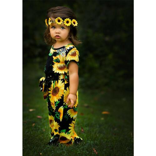 New Kids Baby Girls Floral Romper Bodysuit Sunsuit Outfits